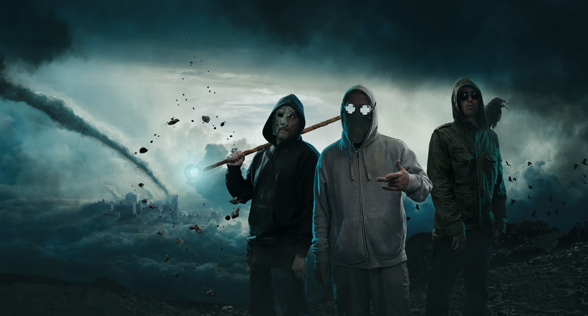 Portrait of hip hop group Hemmelig Sekt. By Håvard Schei.