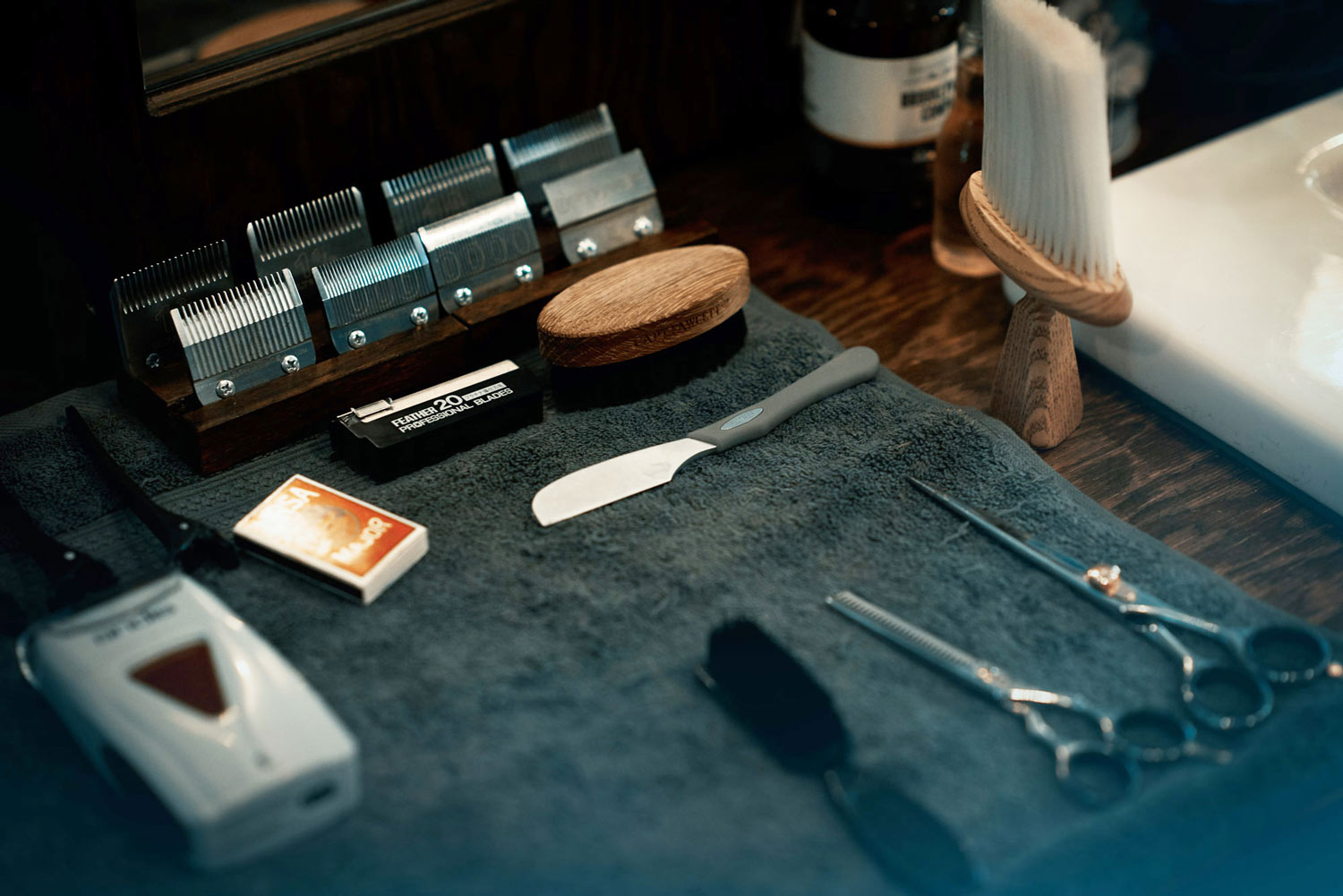 The barber equipment, from a cinematic story about the barber.